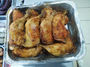 Cuisse de poulet cuite